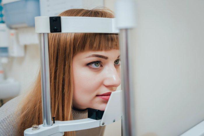 eye examination at the clinic